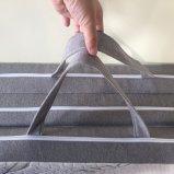 三折る上層取り外し可能なタケカバーおよび滑り止めの底