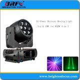 RGBW LED 이동하는 맨 위 세척 빛4 에서 1 7X15W