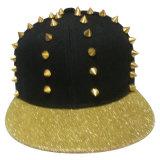 Gorras de béisbol calientes del Snapback de la venta con el cuero artificial SD03