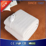 Manta Heated eléctrica del paño grueso y suave lavable de las lanas sintetizadas con 4 que fijan