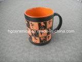 tazza di colore dello spruzzo 11oz con il marchio del laser, i ricordi di ceramica ed il presente