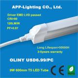 Hochwertige 600mm 9W T5 LED-Röhrenbeleuchtung