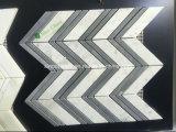 Nuevo producto Blanco Arrows mármol mosaico de mármol para la pared del baño