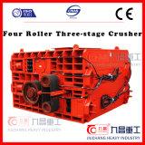 Тонкой шлифовки Дробильная установка на четыре ролика три стадии дробления камня