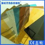 El panel de pared de cortina que hace publicidad de la tarjeta compuesta de aluminio Acm