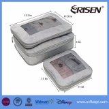 3PCS de vastgestelde Organisatoren van de Bagage van de Kubussen van de Verpakking van de Compressie voor Reis