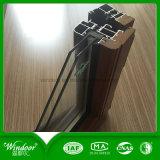 Guichet en bois en aluminium de Compand de forme arrondie avec divers Clours