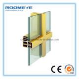 Baja E aislado Roomeye recubierto de vidrio/ventanas de doble acristalamiento de la ventana de muros cortina de vidrio (RMCW-100)