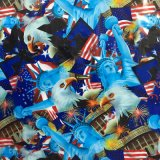 [1m/0.5m Breite] Tsautop neues Art-Karikatur-Entwurfs-Freiheitsstatue PVA Wasser-Übergangsdrucken-Film-den hydrografischen FilmHydro, der Film Tssw9065 eintaucht
