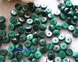 宝石類の設定のための自然なマラカイトの円形のビード