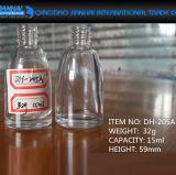 Garrafa de vidro para recipiente de cosméticos transparente de 15 ml para esmalte de unha