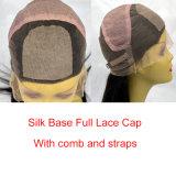Parrucche piene superiori di seta 100% dei capelli umani del merletto dell'arricciatura crespa brasiliana dei capelli umani di Remy