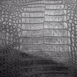 De zwarte Huid van de Krokodil van de Kleur zoals het Kunstmatige Leer van Pu, het Leer van de Zak