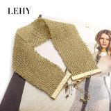 Couleur d'argent/or de couleurs du collier 2 de foulard d'armure de corde de bijou de mode