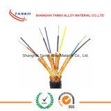 Type de câble de thermocouple isolation de PVC de couleur verte de couleur de GLACE de K