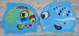 Junta de silicone touca de natação para crianças de forma de peixe