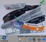 Étiquettes auto-adhésives lustrées résistantes résistantes UV d'impression de l'eau d'animal familier de PVC