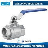 Tipo de luz de la válvula de bola de acero inoxidable con buen precio.