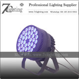 RGBW éclairage LED haute puissance 36x10W conduit par étape de la lumière de l'équipement DMX