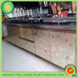 Strato dell'acciaio inossidabile della laminazione del PVC dell'armadio da cucina per la decorazione
