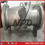 Tipo dell'oscillazione della flangia dell'acciaio inossidabile che inclina la valvola di ritenuta