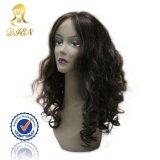 precio de fábrica peluca moda rizado Tejido rizado el pelo largo color marrón Periwig