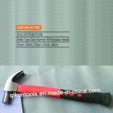 Включено одному молотку с раздвоенным хвостом части с резиновый ручкой