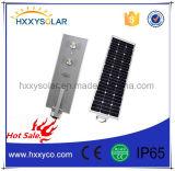 80W de zonneStraatlantaarn integreerde allen in Één Type met de Batterij van Li