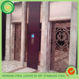 couleur 201 304 décorative repérant des pièces de cabine de porte d'ascenseur de feuille d'acier inoxydable des entreprises de construction
