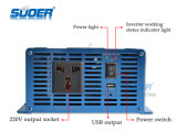 Suoer Solar Power Inverter 1200W sinusoïdale pure Wave Power Inverter 12V à 220V Home Use Power Inverter avec CE & RoHS (FPC-1200A)