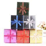 Croco Pattern Caixa de presente de Natal com Nice Bowknot, caixa de jóias criativa, caixa de presente