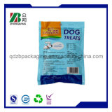 Sac laminé en feuille d'aluminium avec fermeture à glissière pour aliments secs pour animaux de compagnie