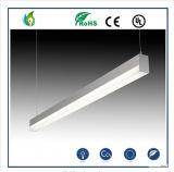Het LEIDENE Lineaire Lichte Bureau die van de Tegenhanger 60W 5FT gebruiken voor het Onderwijs of Bureau