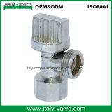 O OEM&Qualidade ODM Ângulo cromado de latão com pega de plástico da válvula (AV3012)