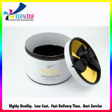 Personalizado Hot Stamping Round Candle Box com fita preta