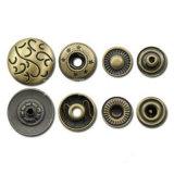 Botão de pressão de calças de metal de qualidade
