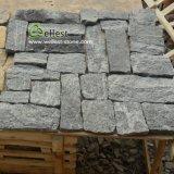 회색 느슨한 유형 자연적인 균열 표면 무작위 모양 옥외 벽 클래딩 돌