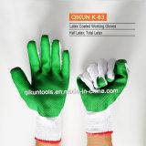 Перчатки хлопка застрявшей ладони K-63 Polycotton работая