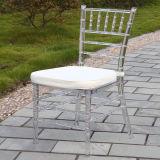 Resina Cristal Chiavari cadeira com assento