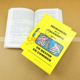Impression manuelle d'impression originale de livre