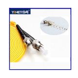 Conector de fibra óptica del St del solo modo de la cuerda de corrección