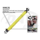 pulsera amarilla de la supervivencia de 25.5X2 cm con el arrancador de fuego (4EN68-YW)