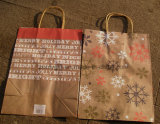 Bolso de compras del papel del diseño de la estrella del oro