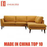 Mobilia a forma di L del sofà di colore giallo di sconto