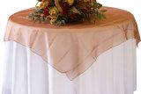 Recubrimiento del vector del Organza para el mantel de las decoraciones del banquete del hotel del hogar del banquete de boda