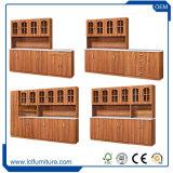 ドアが付いている調節可能で小さい木PVC食器棚は下がる