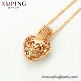 44251 Ontwerpen van uitstekende kwaliteit van de Juwelen van de Tegenhanger van de Vorm van het Hart van de Toebehoren van de Manier van de Halsband van de Luxe de Recentste 18K Goud Geplateerde