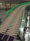 Tablilla Hairise recto de la cadena de la parte superior de giro a la cinta transportadora para la comida y bebida
