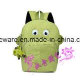 Saco de escola bonito do Schoolbag dos desenhos animados dos alunos elementares dobro da trouxa do ombro