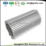 6.063 T5 Dissipador de calor em alumínio redonda com a norma ISO 9001